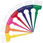 Comair - Haarverf Kwasten - Rainbow Color - Breed - 7 Stuks