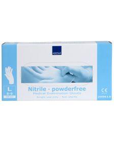 Abena - Nitril Handschoenen - Wit - Poedervrij - Maat L - 100 Stuks