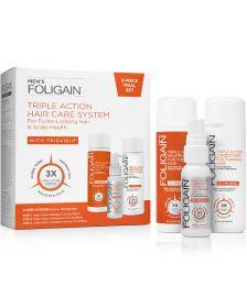 Foligain - Men - 3-Piece Trial Set for Fuller-Looking Hair
