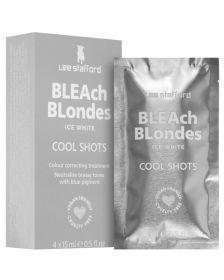 Lee Stafford - Bleach Blondes - Ice White - Cool Shots - Treatment voor Platinum Blond Haar - 4 x 15 ml