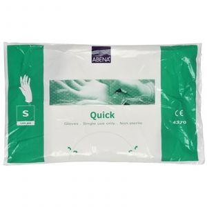 Abena - Quick Plastic Wegwerphandschoenen - Small - 100 stuks (Single Use)