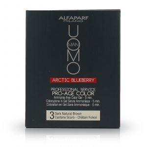 Alfaparf - Uomo - Pro-Age Color Gel - 3 Dark Natural Brown - 3x50 ml