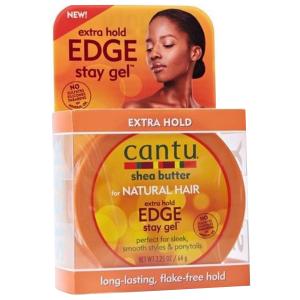 Cantu - Shea Butter - Natural Edge Stay Gel - 64 gr