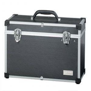 Comair - Zwarte Aluminium Koffer - 45x34 cm