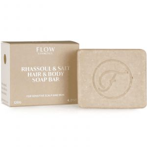 Flow Cosmetics - Biologische Shampoo Bar - Rhassoul & Salt (Hair and Body) - 120 gr