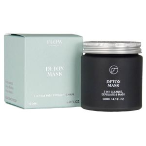 Flow - Detox Mask 3-in-1 - Reinigend & Exfoliërend Masker - 120 ml