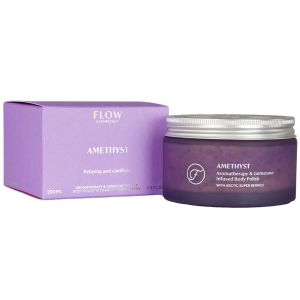 Flow - Amethyst Aromatherapy & Gemstone - Body Scrub - 200 ml