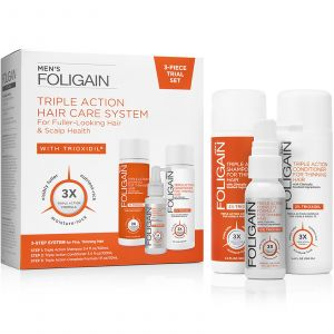 Foligain - Men - 3-Piece Trial Set for Fuller-Looking Hair