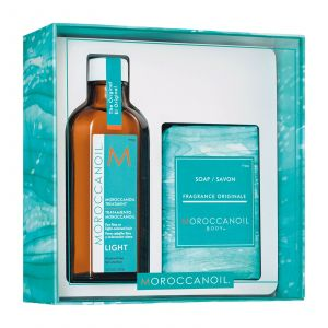 Moroccanoil - Cleanse & Style Duo - Light (Moroccanoil Light Treatment 100 ml + Soap)
