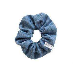 MAE.S - Denim Scrunchie - Bleached Blue