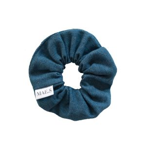 MAE.S - Denim Scrunchie - Sky Blue