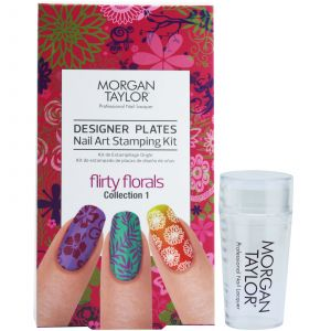 Morgan Taylor - Designer Plates Nail Art Stamping Kit - Flirty Florals Collection 1