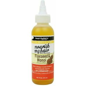 Aunt Jackie's - Nourish My Hair - Growth Oil - Flaxseed & Monoi - 118 ml