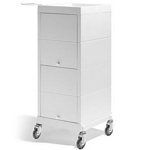 Sibel - Discrete Werkwagen Kapper - Wit