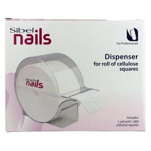 Sibel - Nails - Nageldoek Dispenser Inclusief Rol met 1000 Doekjes