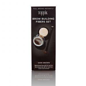 Toppik - Brow Building Fibers Set - Dark Brown