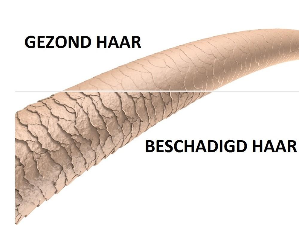 Gezonde cuticula versus beschadigde cuticula