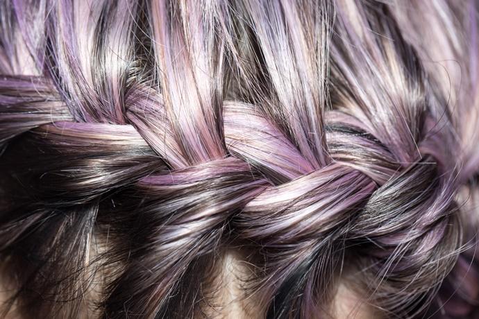 Paarse tinten in je haar