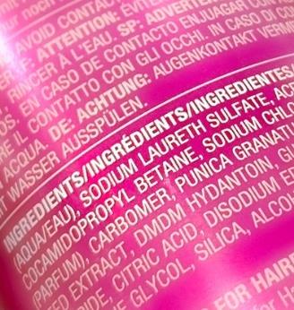 Shampoo Ingrediëntenlijst met Sodium Laureth Sulfate