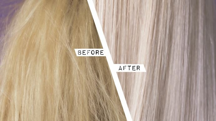 Fudge Zilvershampoo Voor en Na (Before and After)