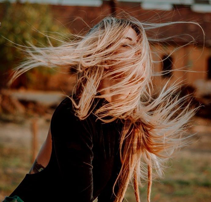 Model met mooi lang haar!